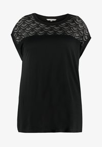 ONLY Carmakoma - CARFLAKE MIX - Blouse - black - 3