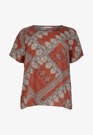 MIT KURZEN ÄRMELN  - T-shirt med print - brown