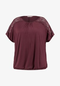ONLY Carmakoma - CARLENE - T-shirts med print - tawny port - 3