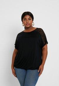 ONLY Carmakoma - CARLENE - Print T-shirt - black - 0