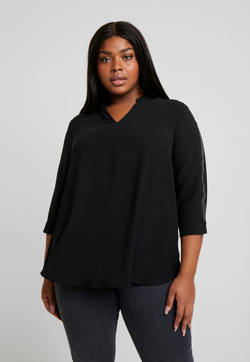 ONLY Carmakoma - Blouse - black/glitter tape