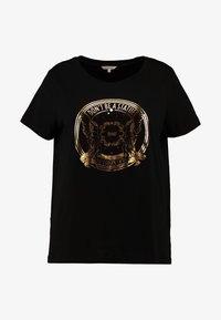 ONLY Carmakoma - CARGLAM TEE - T-shirt print - black/gold - 4
