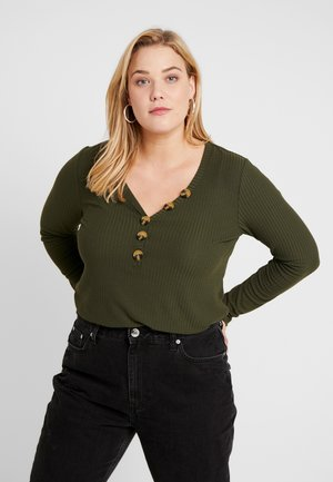 CARJULIE BUTTON - Long sleeved top - grape leaf