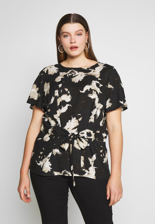 CARCARU TOP - Blouse - black/dark tie dye