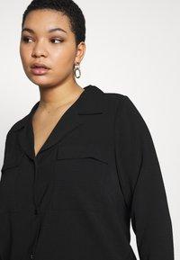 ONLY Carmakoma - CARFELINE - Button-down blouse - black - 4