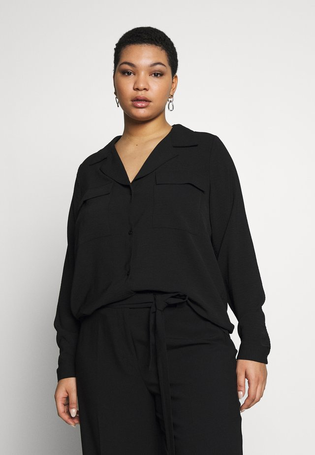 CARFELINE - Button-down blouse - black