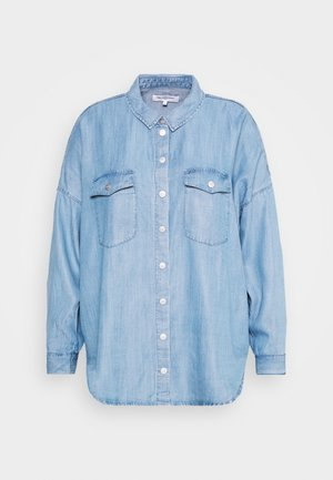CARUSH LIFE OVERSIZE - Hemdbluse - light blue denim