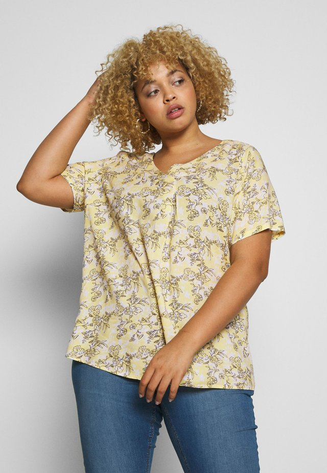 CARBLOOM LIFE VNECK TOP - Bluzka - pineapple slice/bloom