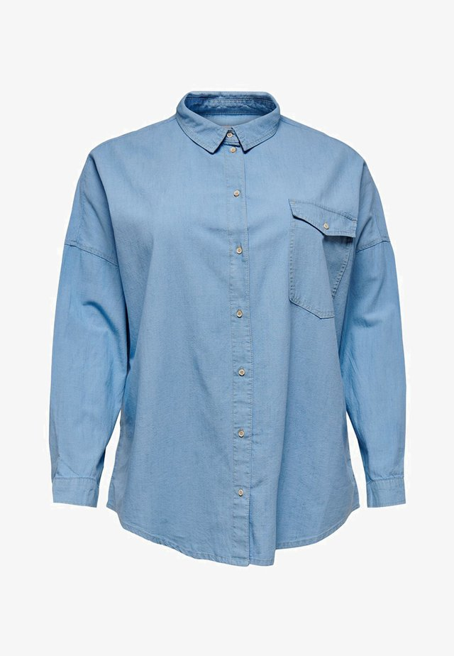 EINFARBIGE - Button-down blouse - light blue denim
