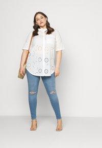ONLY Carmakoma - CARCHICARO LONG - Button-down blouse - cloud dancer - 1