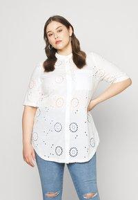 ONLY Carmakoma - CARCHICARO LONG - Button-down blouse - cloud dancer - 0