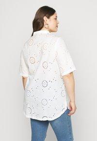 ONLY Carmakoma - CARCHICARO LONG - Button-down blouse - cloud dancer - 2