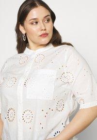 ONLY Carmakoma - CARCHICARO LONG - Button-down blouse - cloud dancer - 4
