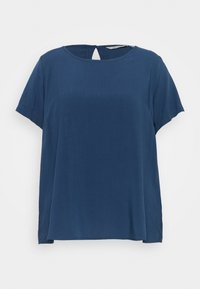 ONLY Carmakoma - CARVIS TOP SOLID - Blouse - dark denim - 0