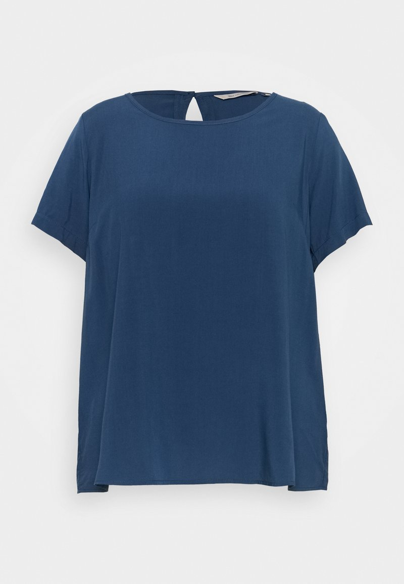 ONLY Carmakoma - CARVIS TOP SOLID - Blouse - dark denim