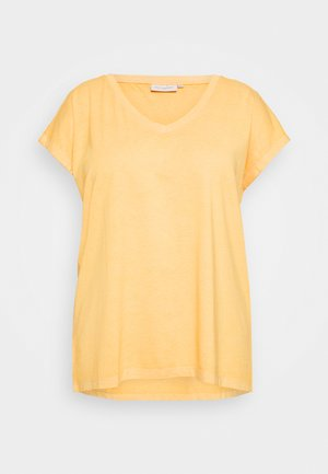 CARNOIZY LIFE  - Basic T-shirt - golden yellow/azid wash