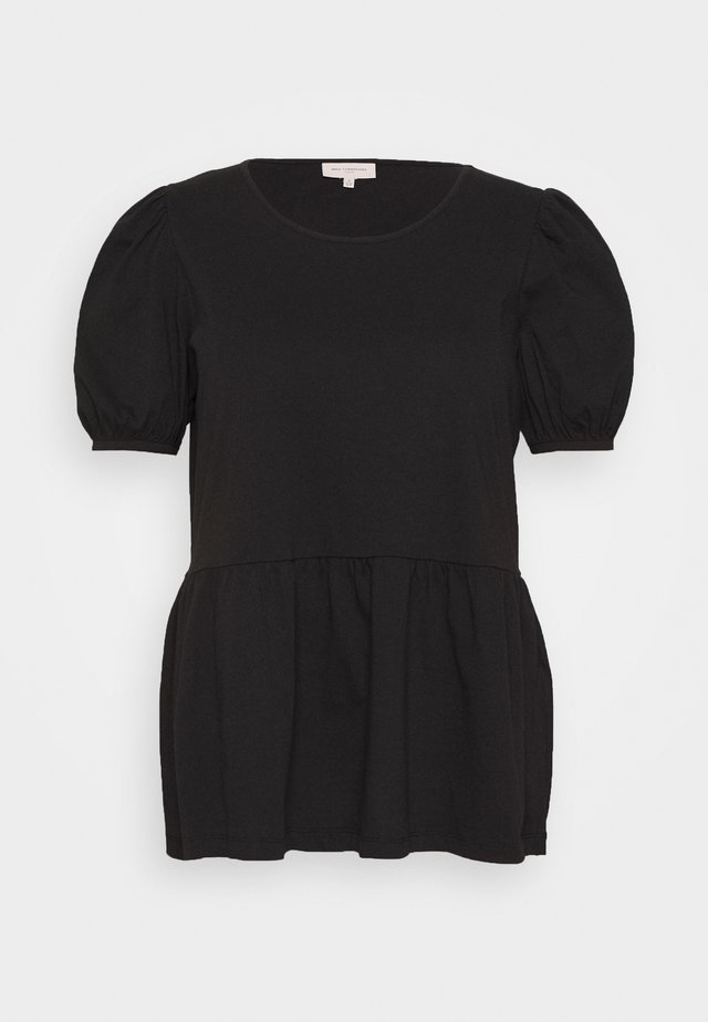 CARANNI 2/4 PUFF TOP - Bluse - black