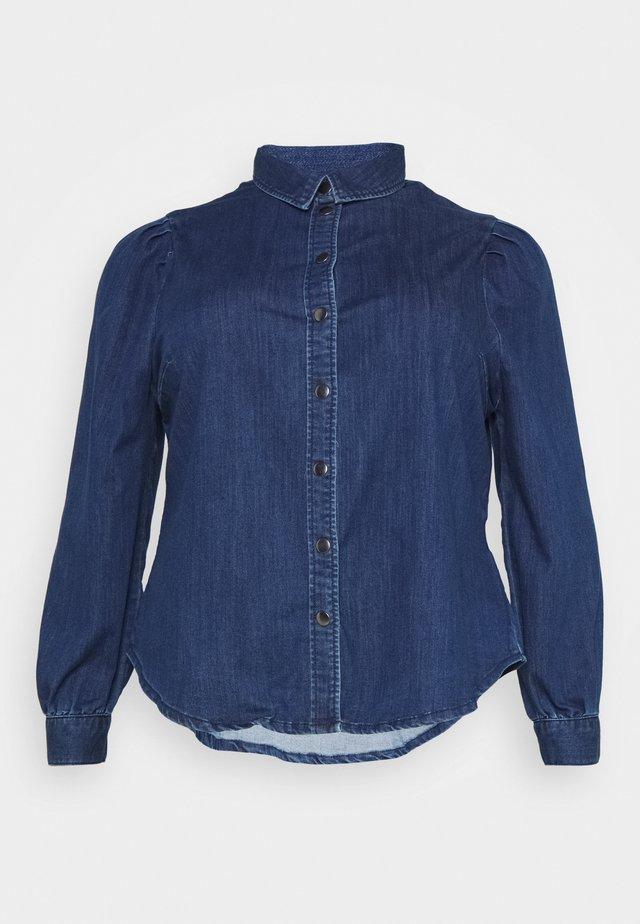 CARNADA LIFE SHIRT - Button-down blouse - dark blue denim