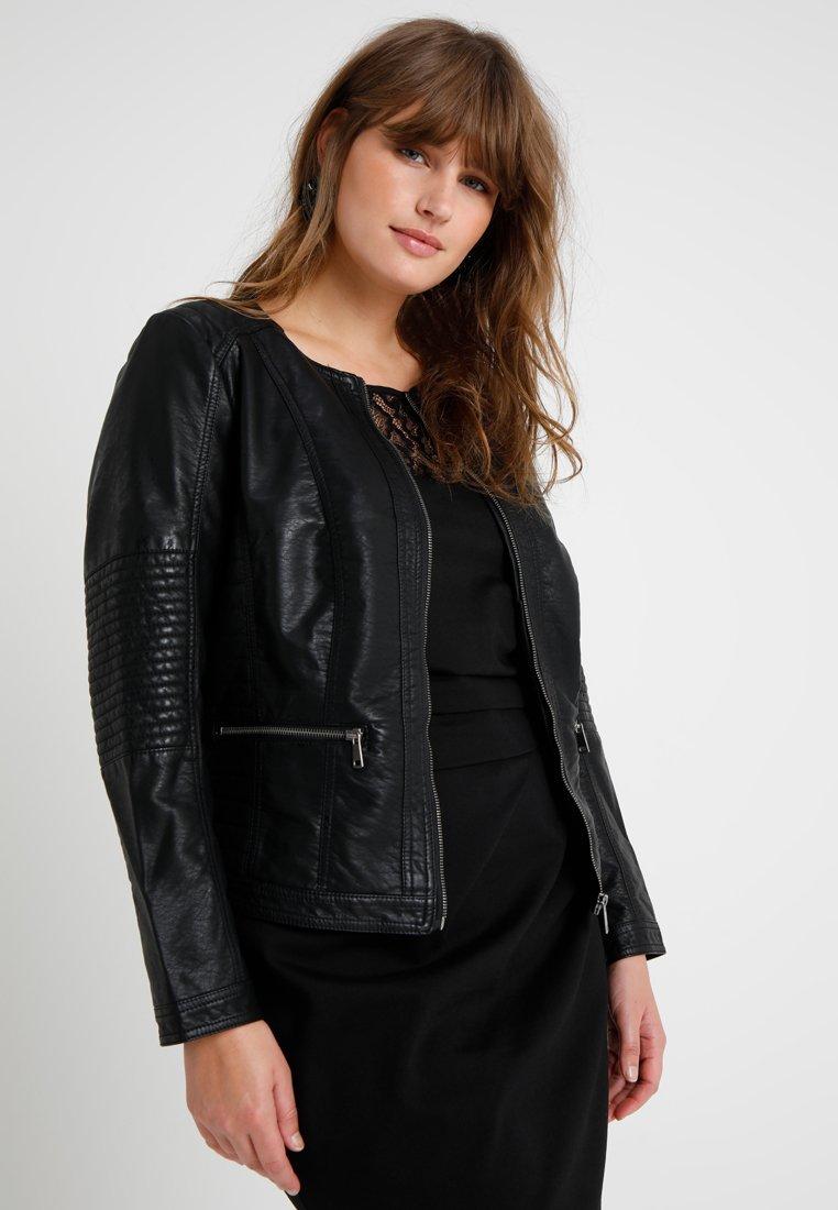 ONLY Carmakoma - CAROKRA JACKET - Faux leather jacket - black