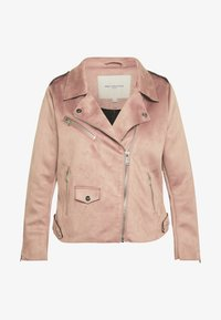 ONLY Carmakoma - CARSHERRY BONDED BIKER - Faux leather jacket - burlwood - 3