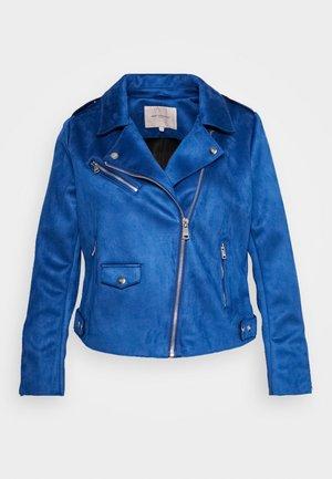 CARSHERRY BONDED BIKER - Imitatieleren jas - mazarine blue