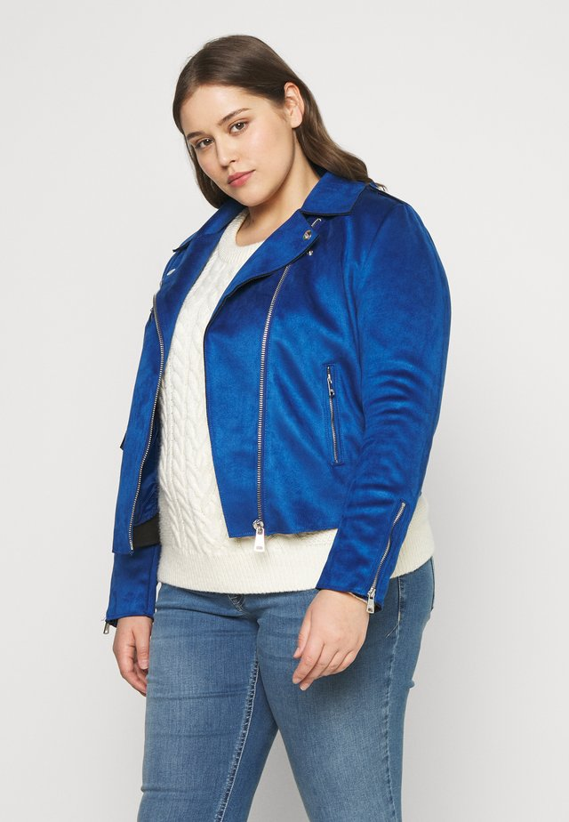 CARSHERRY BONDED BIKER - Giacca in similpelle - mazarine blue