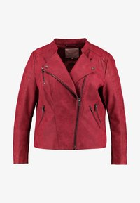 ONLY Carmakoma - CARAVANA BIKER - Faux leather jacket - red pear - 4