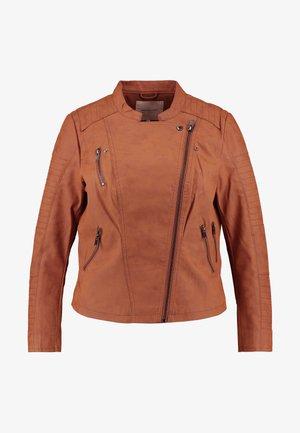 CARAVANA BIKER - Faux leather jacket - ginger bread