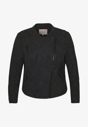 CARAVANA BIKER - Chaqueta de cuero sintético - black