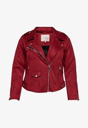 Faux leather jacket - bordeaux