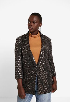 CARFIONA 3/4 - Krátký kabát - black/glitter