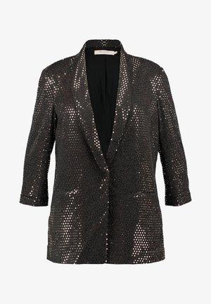 CARFIONA 3/4 - Krótki płaszcz - black/glitter
