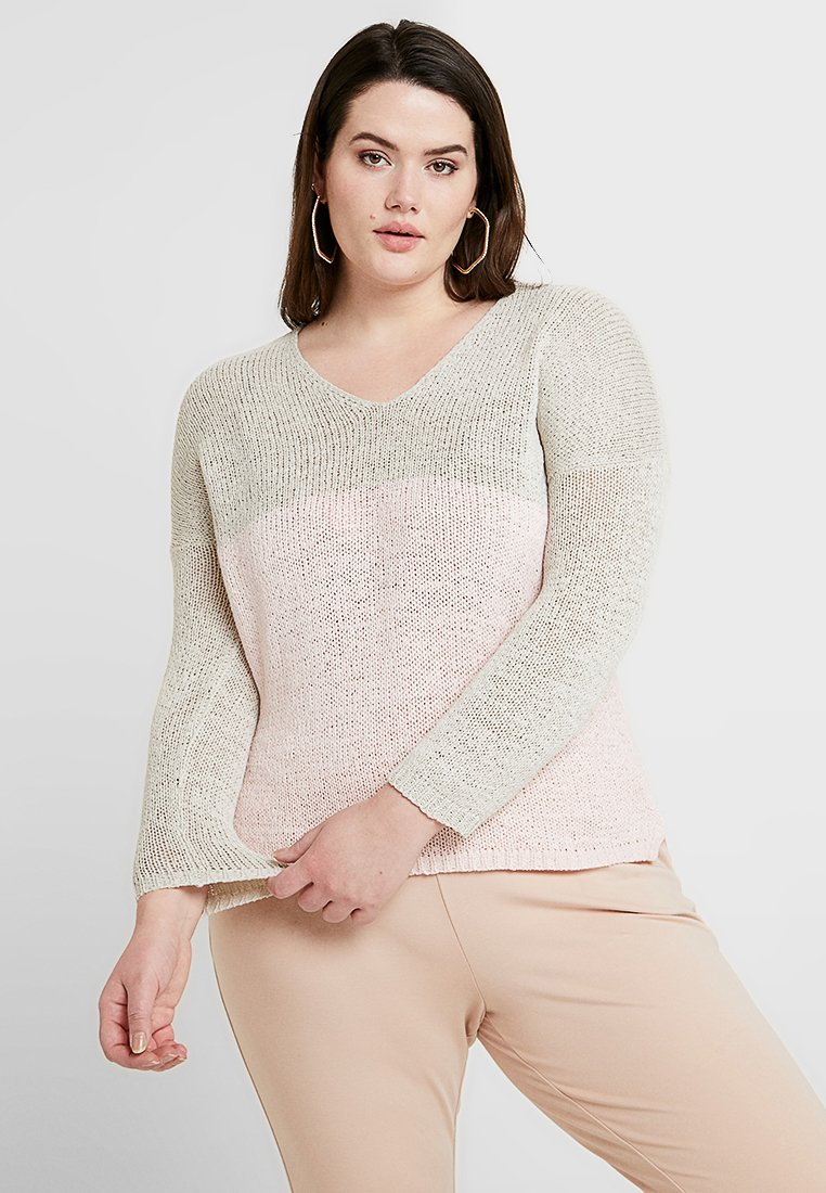 ONLY Carmakoma - Strickpullover - pumice stone