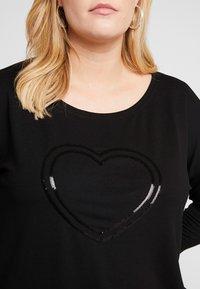 ONLY Carmakoma - CARJAN 3/4 O-NECK BOX - Bluzka z długim rękawem - black - 5