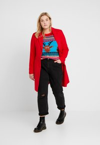 ONLY Carmakoma - CARREINDEER  - Jumper - mars red - 1