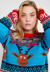 ONLY Carmakoma - CARREINDEER  - Jumper - mars red - 3