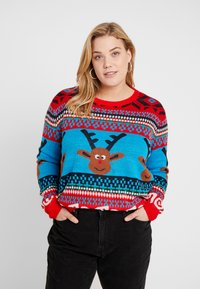 ONLY Carmakoma - CARREINDEER  - Jumper - mars red - 0