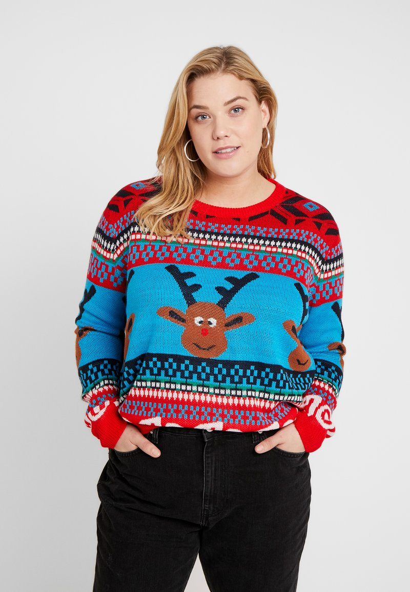 ONLY Carmakoma - CARREINDEER  - Jumper - mars red