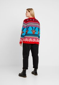 ONLY Carmakoma - CARREINDEER  - Jumper - mars red - 2