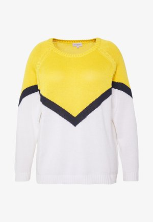 CARSARA BLOCK - Maglione - yellow/white