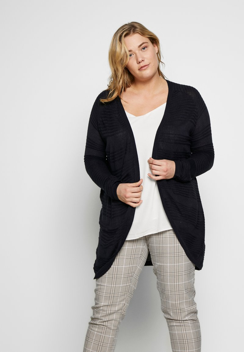ONLY Carmakoma - CARAIRPLAIN CARDIGAN  - Cardigan - night sky