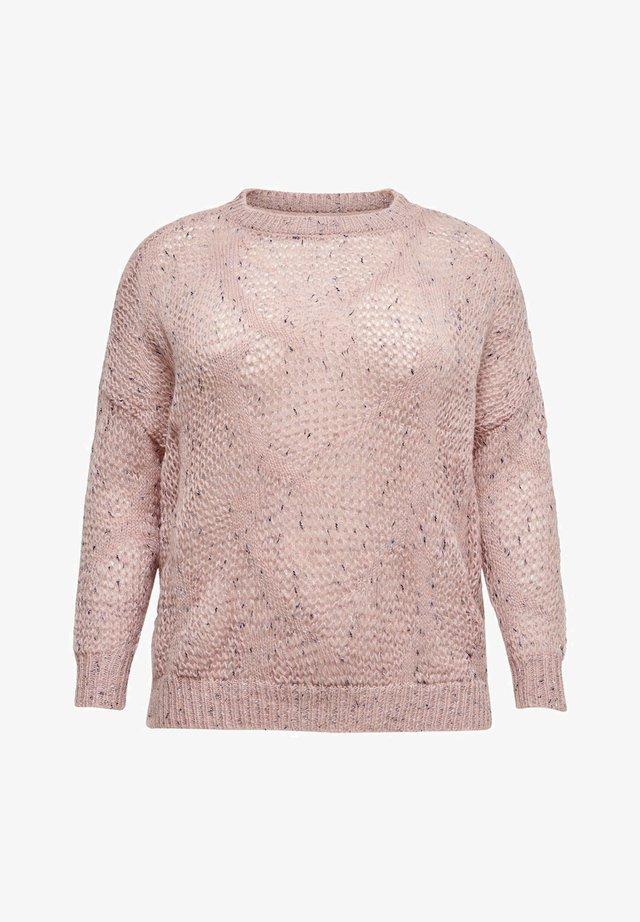 CURVY STRUKTUR - Jersey de punto - silver pink