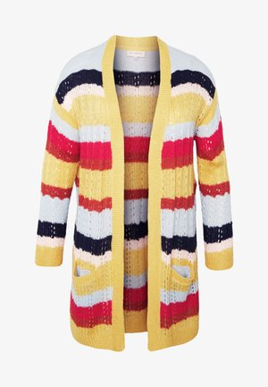 CARMETA LONG - Cardigan - hot sauce/multicolour stripe