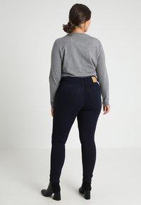 ONLY Carmakoma - CARANNA ANK - Jeans Skinny Fit - dark blue denim - 2