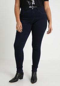 ONLY Carmakoma - CARTHUNDER PUSH UP - Jeans Skinny Fit - dark blue denim - 0