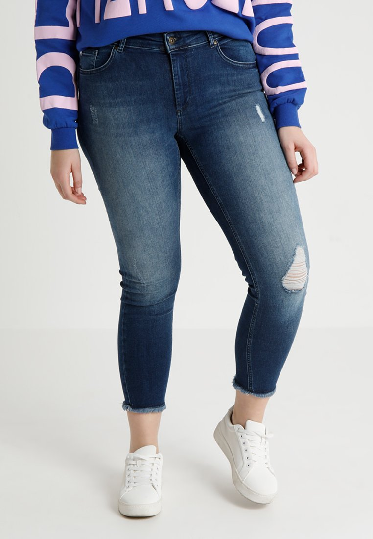 ONLY Carmakoma - CARWILLY - Jeans Skinny - medium blue denim