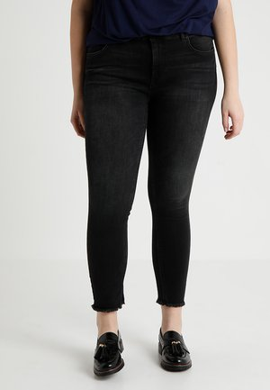 CARWILLY - Jeansy Skinny Fit - black