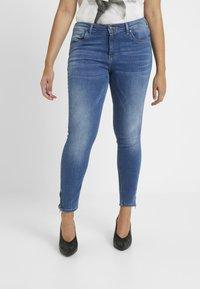 ONLY Carmakoma - CARKARLA ANKLE - Jeans Skinny Fit - medium blue denim - 0