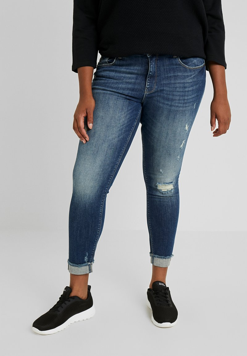 ONLY Carmakoma - Jeans Skinny Fit - dark blue denim