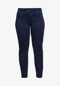 ONLY Carmakoma - CARAUGUSTA - Straight leg jeans - dark blue denim - 4